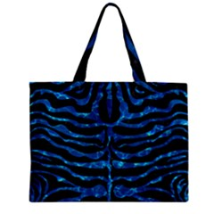 Skin2 Black Marble & Deep Blue Water Zipper Mini Tote Bag