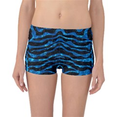 Skin2 Black Marble & Deep Blue Water Boyleg Bikini Bottoms
