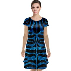 Skin2 Black Marble & Deep Blue Water Cap Sleeve Nightdress
