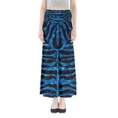 Skin2 Black Marble & Deep Blue Water Full Length Maxi Skirt