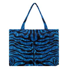 Skin2 Black Marble & Deep Blue Water (r) Medium Tote Bag