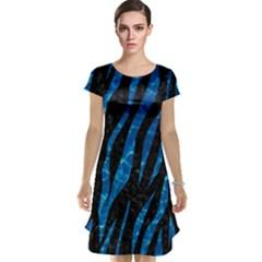 Skin3 Black Marble & Deep Blue Water Cap Sleeve Nightdress