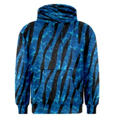 Skin3 Black Marble & Deep Blue Water (r) Men s Pullover Hoodie