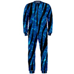 Skin3 Black Marble & Deep Blue Water (r) Onepiece Jumpsuit (men)