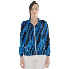 Skin3 Black Marble & Deep Blue Water (r) Wind Breaker (women)