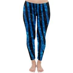 Skin4 Black Marble & Deep Blue Water Classic Winter Leggings