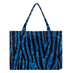 Skin4 Black Marble & Deep Blue Water Medium Tote Bag