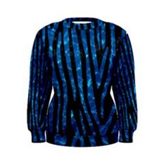 Skin4 Black Marble & Deep Blue Water (r)skin4 Black Marble & Deep Blue Water (r) Women s Sweatshirt