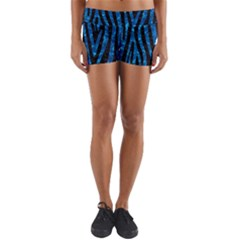 Skin4 Black Marble & Deep Blue Water (r)skin4 Black Marble & Deep Blue Water (r) Yoga Shorts