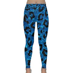 Skin5 Black Marble & Deep Blue Water Classic Yoga Leggings