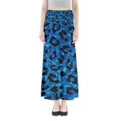 Skin5 Black Marble & Deep Blue Water Full Length Maxi Skirt