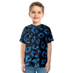 Skin5 Black Marble & Deep Blue Water (r) Kids  Sport Mesh Tee