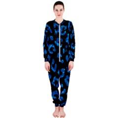 Skin5 Black Marble & Deep Blue Water (r) Onepiece Jumpsuit (ladies)