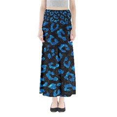 Skin5 Black Marble & Deep Blue Water (r) Full Length Maxi Skirt