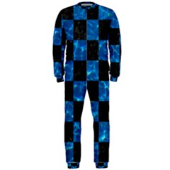 Square1 Black Marble & Deep Blue Water Onepiece Jumpsuit (men)