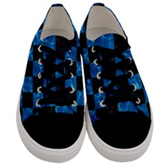 Square1 Black Marble & Deep Blue Water Men s Low Top Canvas Sneakers