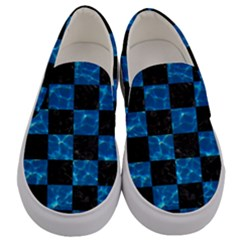 Square1 Black Marble & Deep Blue Water Men s Canvas Slip Ons