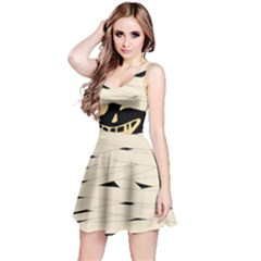 Ivory Mummy Halloween Outfit Reversible Sleeveless Dress