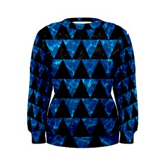Triangle2 Black Marble & Deep Blue Water Women s Sweatshirt