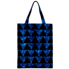 Triangle2 Black Marble & Deep Blue Water Zipper Classic Tote Bag