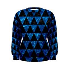 Triangle3 Black Marble & Deep Blue Water Women s Sweatshirt