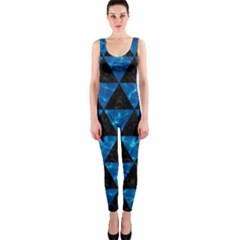 Triangle3 Black Marble & Deep Blue Water Onepiece Catsuit