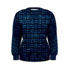Woven1 Black Marble & Deep Blue Water Women s Sweatshirt