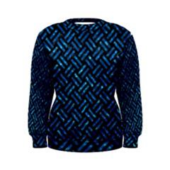 Woven2 Black Marble & Deep Blue Water Women s Sweatshirt