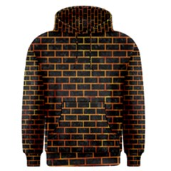 Brick1 Black Marble & Fire Men s Pullover Hoodie