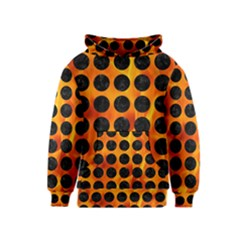 Circles1 Black Marble & Fire (r) Kids  Pullover Hoodie
