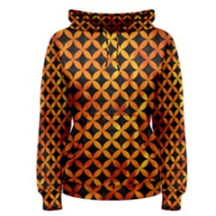 Circles3 Black Marble & Fire Women s Pullover Hoodie