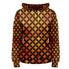Circles3 Black Marble & Fire (r) Women s Pullover Hoodie