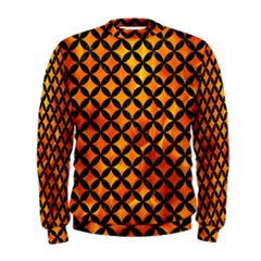 Circles3 Black Marble & Fire (r) Men s Sweatshirt