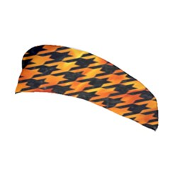 Houndstooth1 Black Marble & Fire Stretchable Headband