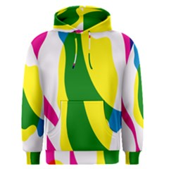 Anatomicalrainbow Wave Chevron Pink Blue Yellow Green Men s Pullover Hoodie