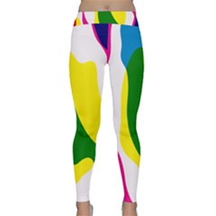 Anatomicalrainbow Wave Chevron Pink Blue Yellow Green Classic Yoga Leggings