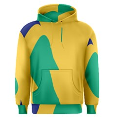 Yellow Green Blue Men s Pullover Hoodie