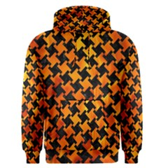 Houndstooth2 Black Marble & Fire Men s Pullover Hoodie