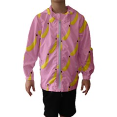 Banana Fruit Yellow Pink Hooded Wind Breaker (kids)
