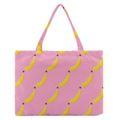 Banana Fruit Yellow Pink Zipper Medium Tote Bag