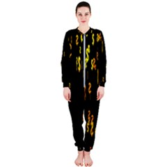 Animated Falling Spinning Shining 3d Golden Dollar Signs Against Transparent Onepiece Jumpsuit (ladies)