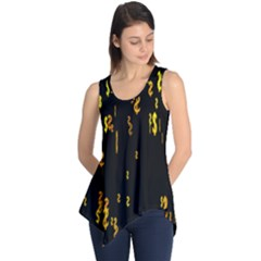 Animated Falling Spinning Shining 3d Golden Dollar Signs Against Transparent Sleeveless Tunic