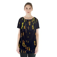 Animated Falling Spinning Shining 3d Golden Dollar Signs Against Transparent Skirt Hem Sports Top