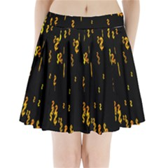 Animated Falling Spinning Shining 3d Golden Dollar Signs Against Transparent Pleated Mini Skirt