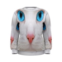 Beautiful White Face Cat Animals Blue Eye Women s Sweatshirt