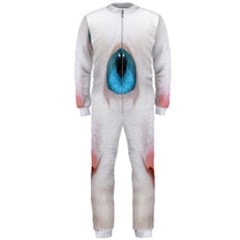 Beautiful White Face Cat Animals Blue Eye Onepiece Jumpsuit (men)