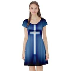 Blue Cross Christian Short Sleeve Skater Dress