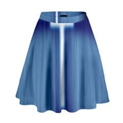 Blue Cross Christian High Waist Skirt