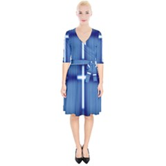 Blue Cross Christian Wrap Up Cocktail Dress