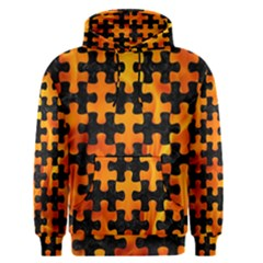 Puzzle1 Black Marble & Fire Men s Pullover Hoodie